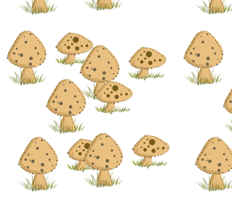 mushrooms fabric by cherie on Spoonflower - custom fabric