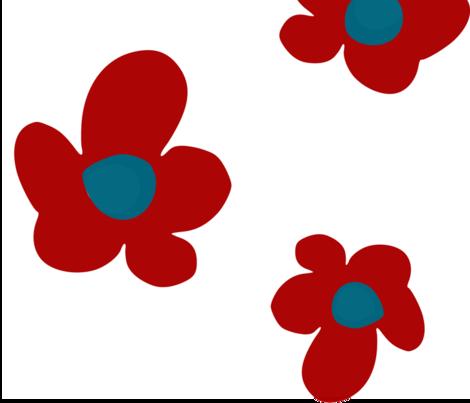 Bloom in Ruby, Summer Joy Collection by Lana Kole fabric by lana_kole on Spoonflower - custom fabric