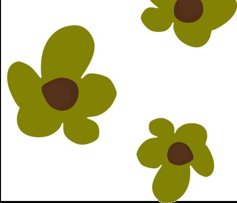 Bloom in Olive fabric by lana_kole on Spoonflower - custom fabric