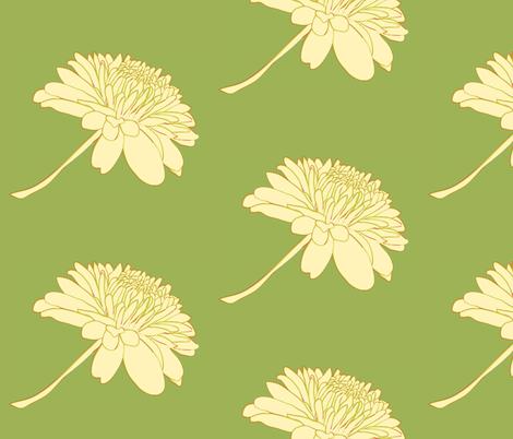 chrysanthemum fabric by cottageindustrialist on Spoonflower - custom fabric