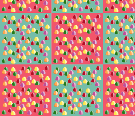 Gum Drop Candies fabric by cherie on Spoonflower - custom fabric