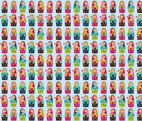matrioschka-anhänger fabric by i'm_sew_happy on Spoonflower - custom fabric