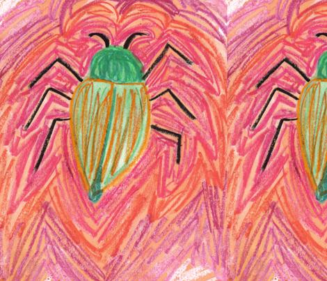 Big_green_Bug fabric by eelkat on Spoonflower - custom fabric