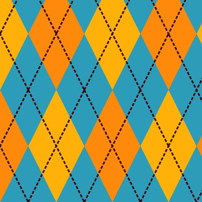 blue yellow argyle