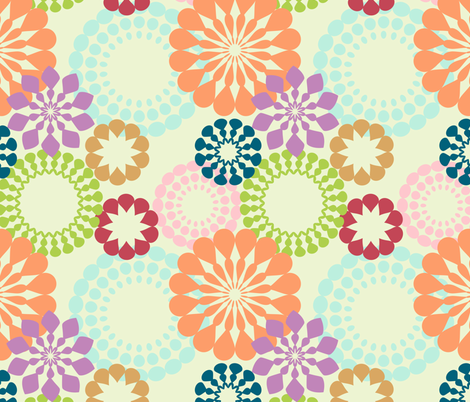 retro pattern fabric by suziedesign on Spoonflower - custom fabric