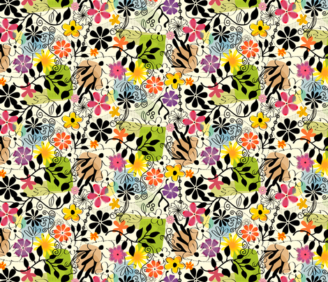 Wacky Floral fabric by totallysevere on Spoonflower - custom fabric