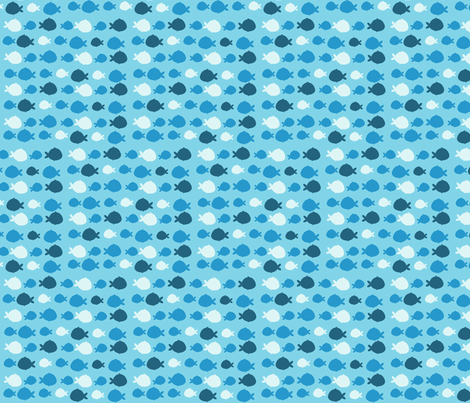BlueShadowFish fabric by luckyapple on Spoonflower - custom fabric