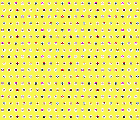 Groovy-Dogs_Melissa-Langer fabric by pugnotes on Spoonflower - custom fabric