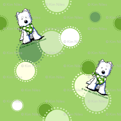 Green Dots Westies
