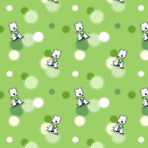 Green Dots Westies