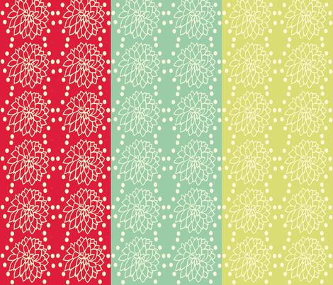 Tri_Color_Dahlia_ fabric by cksstudio80 on Spoonflower - custom fabric