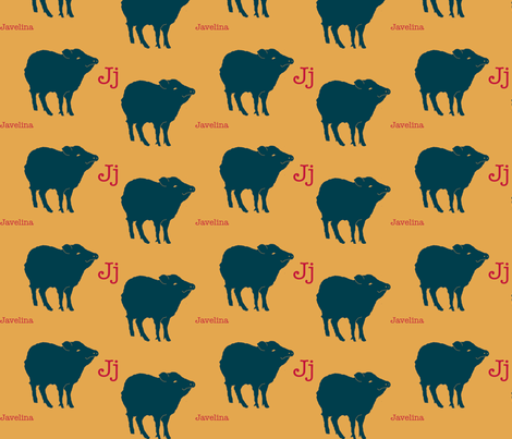 J is for Javelina fabric by maile on Spoonflower - custom fabric
