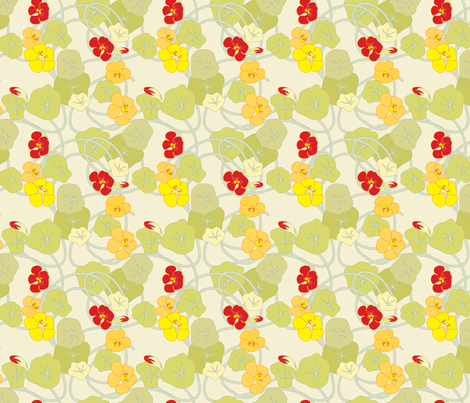 Nasturtiums fabric by anntuck on Spoonflower - custom fabric