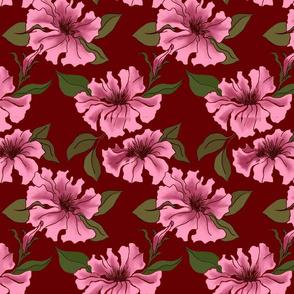 Rosey Petunias