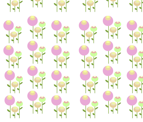Design_2_-_Retro_flower fabric by cinnamontoast on Spoonflower - custom fabric