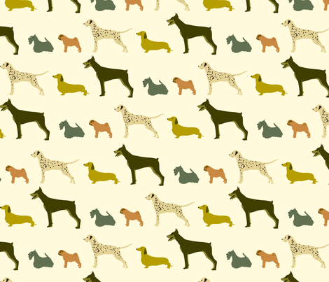 dog show fabric by troismiettes on Spoonflower - custom fabric