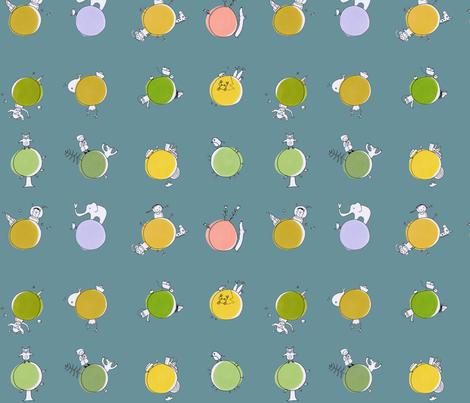 dot planets fabric by susalabim on Spoonflower - custom fabric