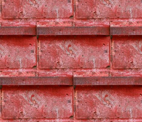 Red Bricks fabric by studiotart on Spoonflower - custom fabric