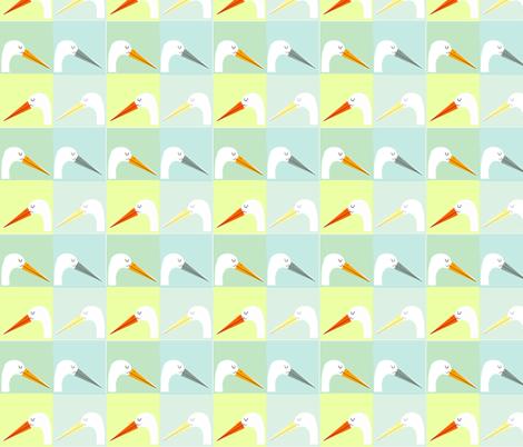stork - beachy fabric by anda on Spoonflower - custom fabric