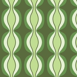 Green Retro Mission Fabric Print