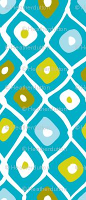 Barnacle Net - Abstract Nautical Geometric Aqua Blue