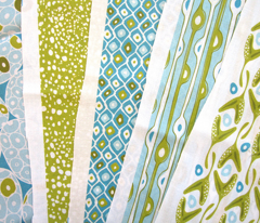 Rockweed - Abstract Seaweed Geometric Green & Aqua
