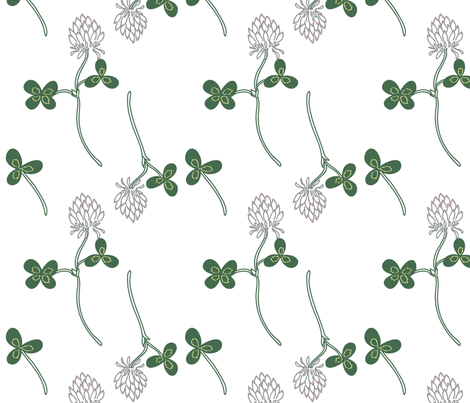 Falling Clover  fabric by smallstitch on Spoonflower - custom fabric