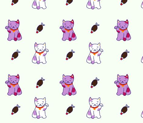 Neko fabric by smallstitch on Spoonflower - custom fabric