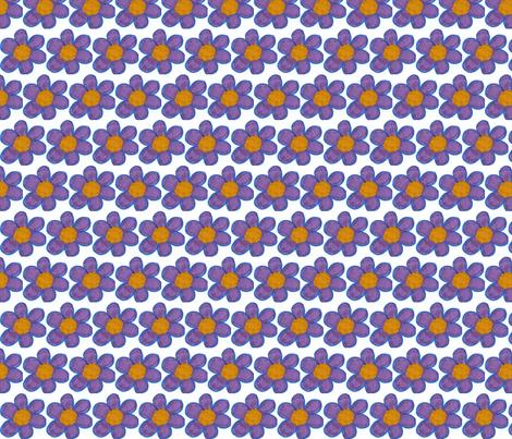 Purple flowers fabric by stephen_of_spoonflower on Spoonflower - custom fabric