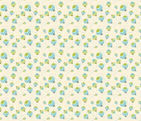 Retro Lady Bugs Fabric Print fabric by kippygo on Spoonflower - custom fabric