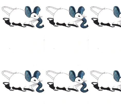 Mouse_Elephant fabric by maghee on Spoonflower - custom fabric