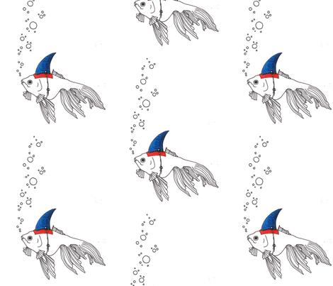 Shark_Goldfish fabric by maghee on Spoonflower - custom fabric
