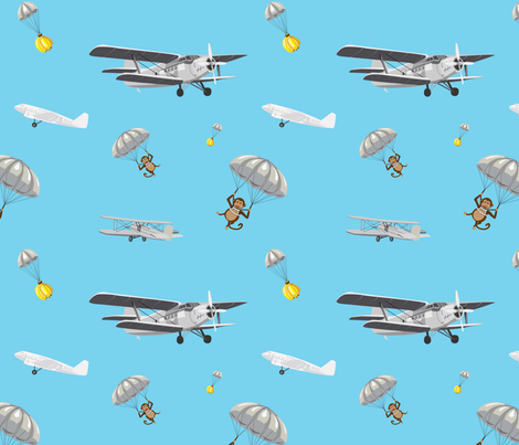 BananaExpress fabric by threadedpixels on Spoonflower - custom fabric
