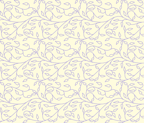 vll_periwinkle_vines fabric by victorialasher on Spoonflower - custom fabric