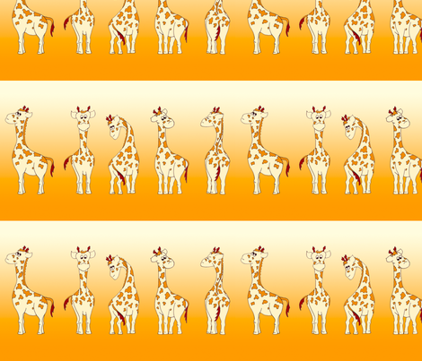 Giraffes fabric by thelazygiraffe on Spoonflower - custom fabric