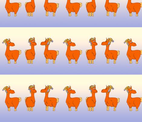 Llamas fabric by thelazygiraffe on Spoonflower - custom fabric