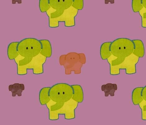 elephants_purple fabric by snork on Spoonflower - custom fabric