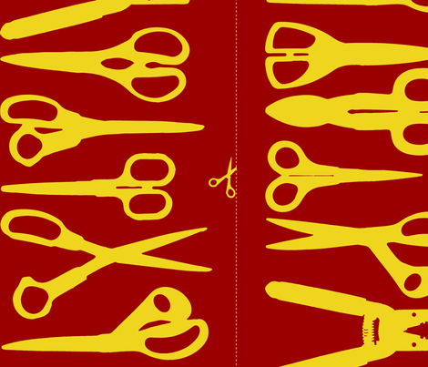 Scissors fabric by primenumbergirl on Spoonflower - custom fabric
