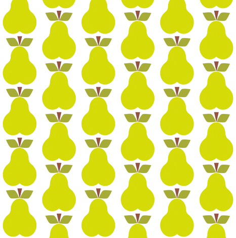 Pear_Rpt fabric by aliceapple on Spoonflower - custom fabric