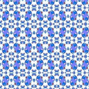 Blueberry Blonde Calico Print