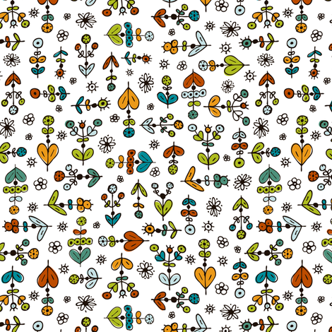 Ditsy Do Little - Whimsical Floral fabric by heatherdutton on Spoonflower - custom fabric