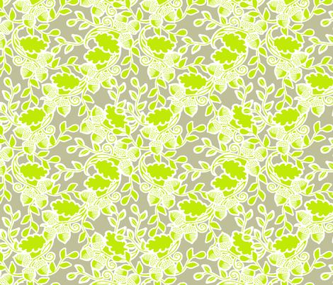 Forest lime fabric by tailorjane on Spoonflower - custom fabric