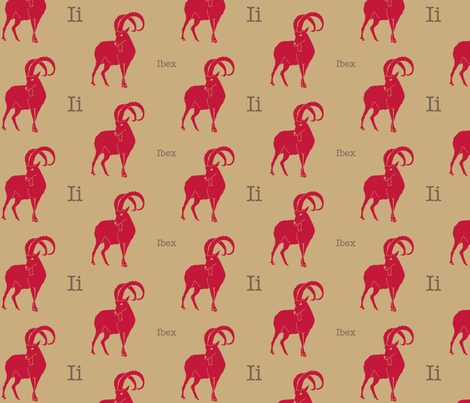 I is for Ibex fabric by maile on Spoonflower - custom fabric