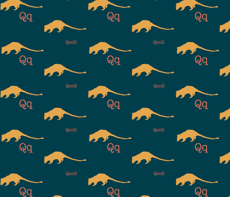 Q is for Quoll fabric by maile on Spoonflower - custom fabric