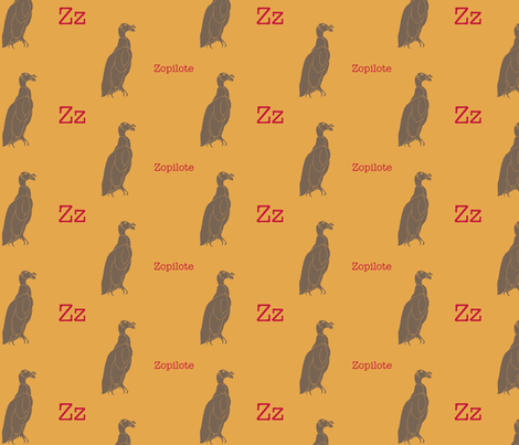 Z is for Zopilote fabric by maile on Spoonflower - custom fabric