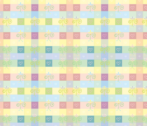 Pastelgingham fabric by leslipepper on Spoonflower - custom fabric