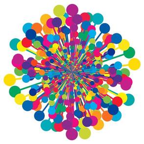 Large Rainbow Dandelion
