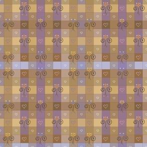 ochre-violetgingham