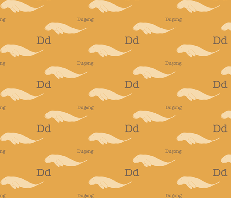 D is for Dugong fabric by maile on Spoonflower - custom fabric