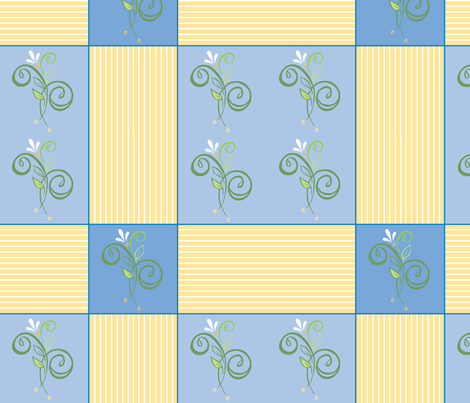 Tendrilscoolsummerpatches fabric by leslipepper on Spoonflower - custom fabric